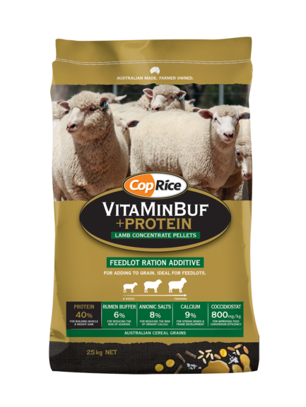 VitaMinBuf + Protein Feedlot Ration Additive
